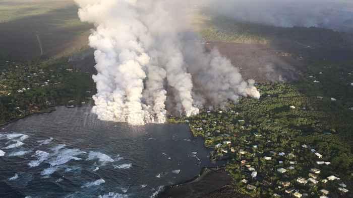 erupción del volcán Kilauea 2018