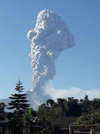 erupción del volcán Merapi
