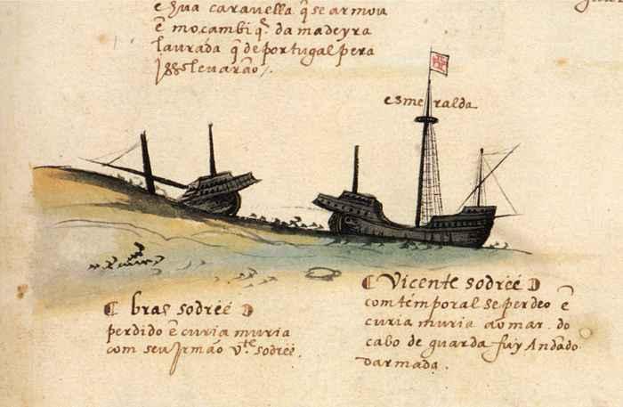 hundimiento del Esmeralda de Vicente Sodré