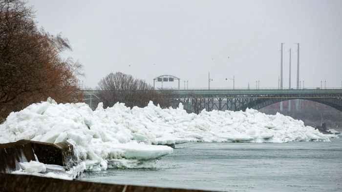 tsunami de hielo en Canadá
