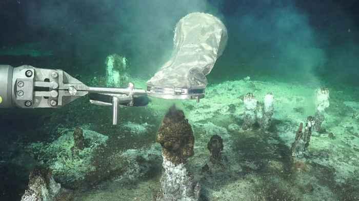 chimeneas hidrotermales en el Golfo de California
