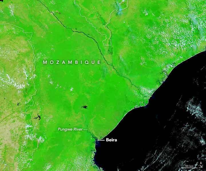 Mozambique antes del ciclón tropical Idai