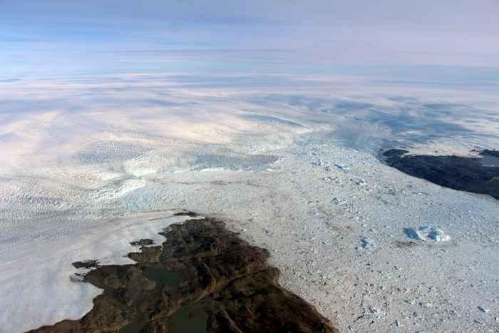 frente del glaciar Jakobshavn