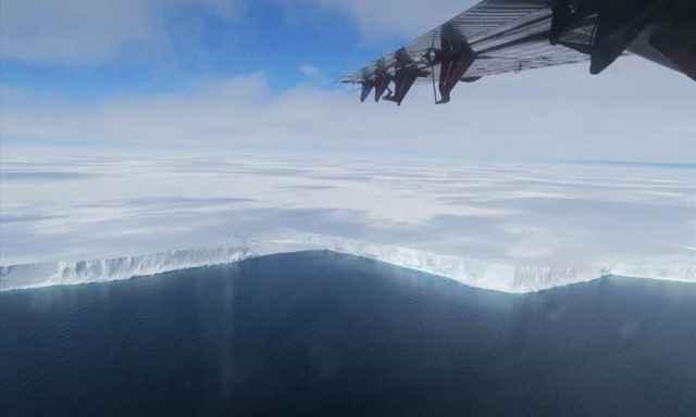 frente de la plataforma de hielo Brunt
