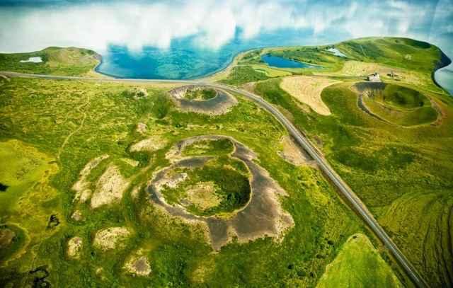 pseudocráteres de Islandia