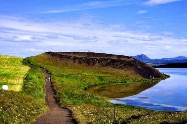 pseudocráter en Islandia