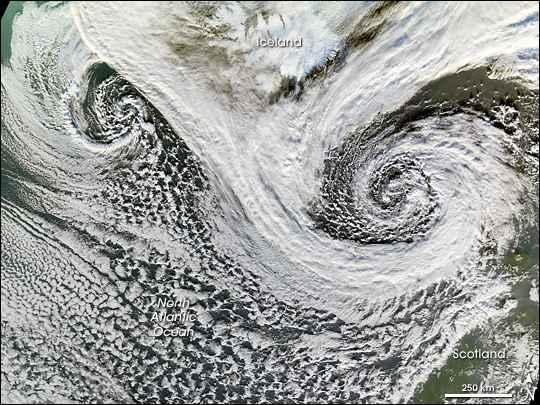 ciclones Islandia