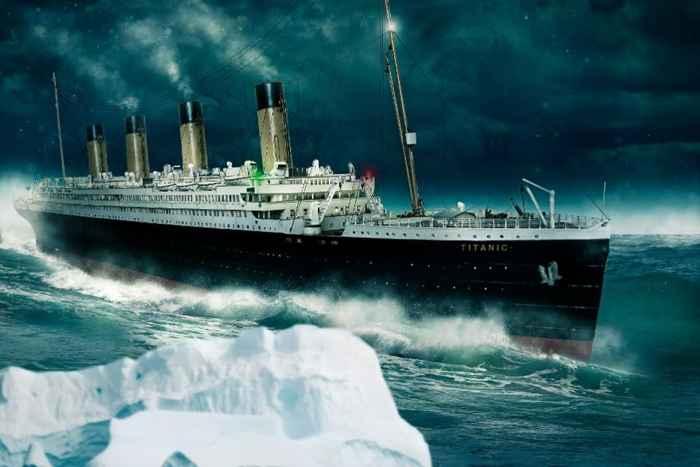 colisión del Titanic con un iceberg