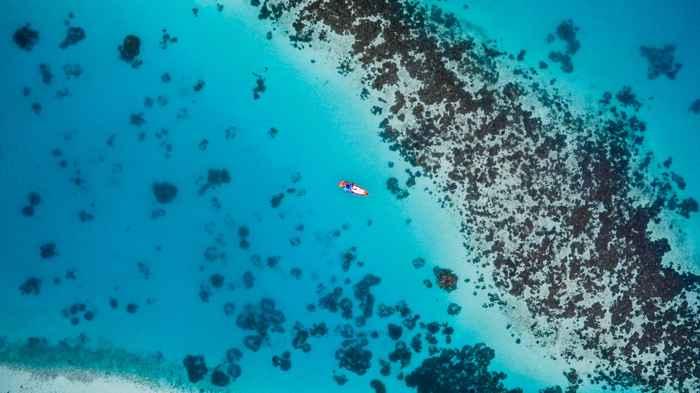 halos de arena en arrecifes de coral