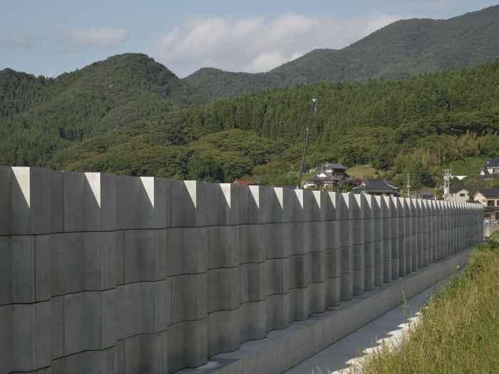 rompeolas de hormigón en Japón