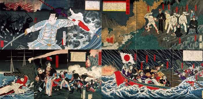 Armada japonesa en acción