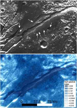 emisión crovolcanica en Virgil Fossae de Plutón