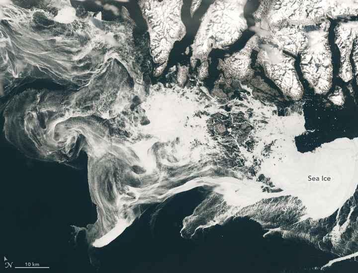 hielo marino en el Mar de Labrador