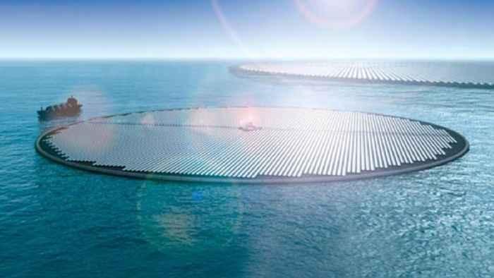 islas solares flotantes
