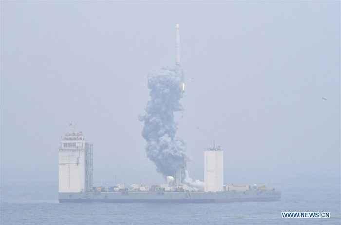 lanzamiento desde el mar del cohete chino CZ-11 WEY