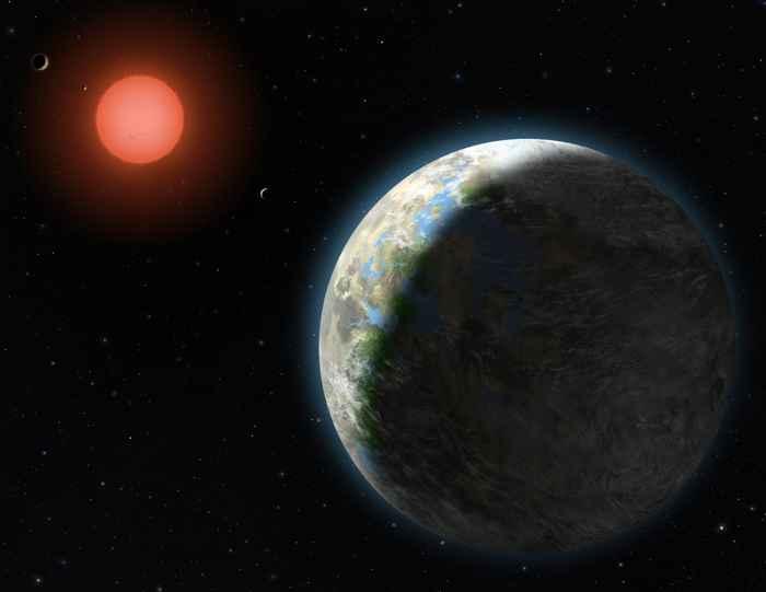 enana roja y un exoplaneta