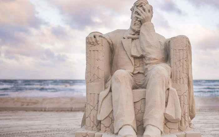escultura de Arena de Abraham Lincoln