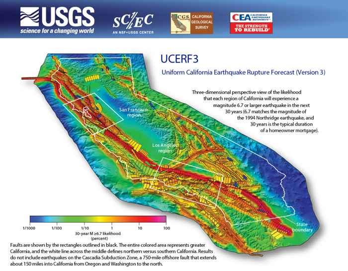 fallas sísmicas que recorren California