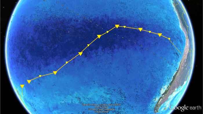 ruta del buque RV Sonne