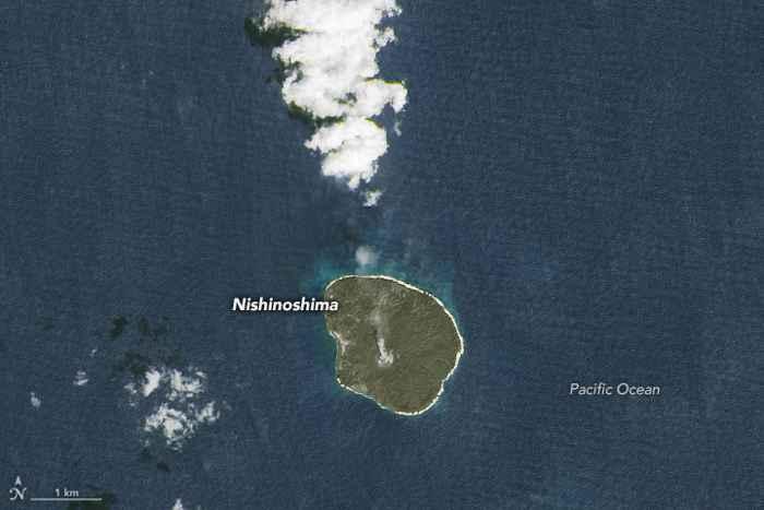 la isla de Nishinoshima en la actualidad