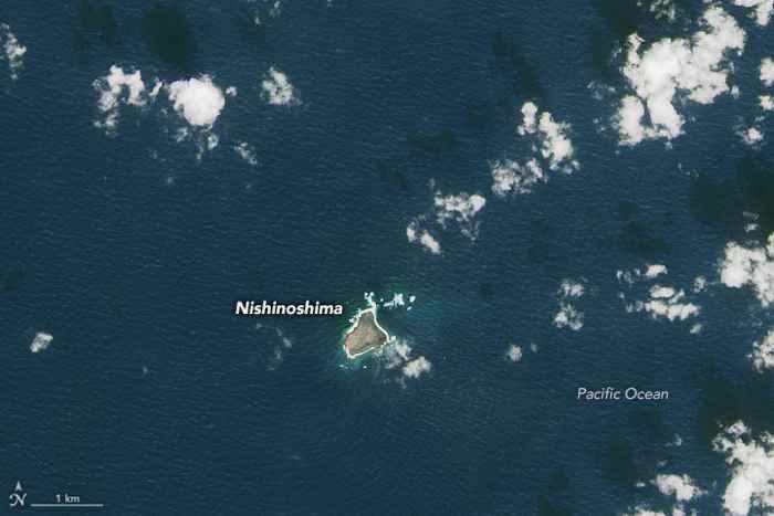 Nishinoshima antes de la erupción