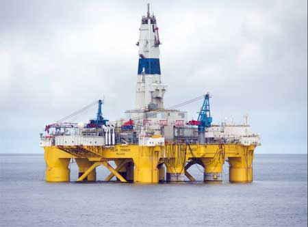 plataforma Shell Polar Pioneer en el mar de Chukchi, Alaska