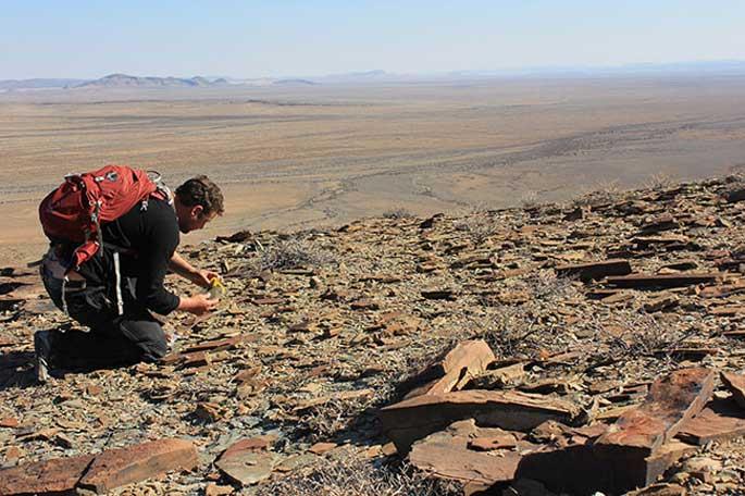 Simon Darroch en Namibia