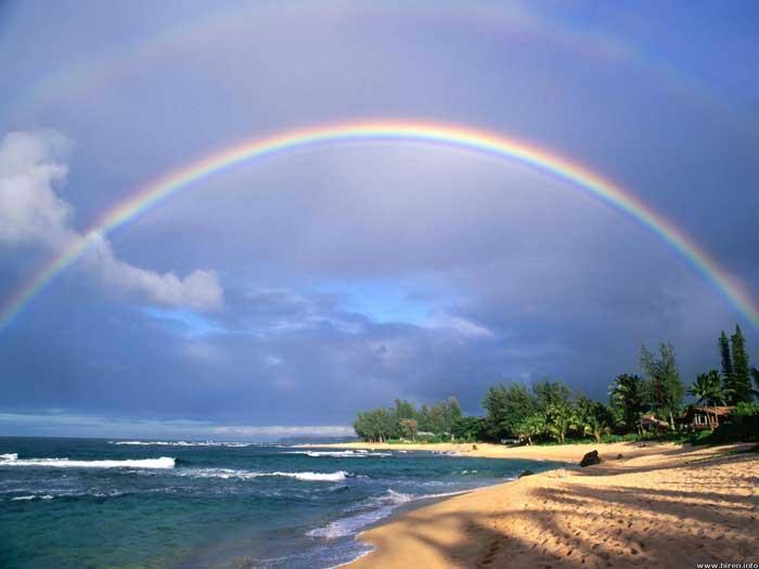 un arco iris en Filipinas