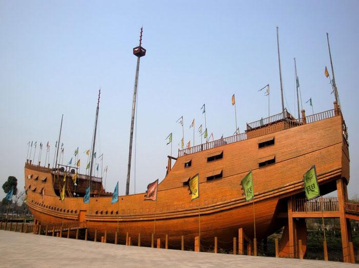 réplica de un barco del tesoro de Zheng He