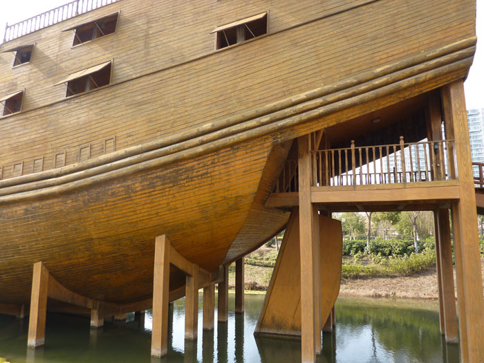 réplica de un barco del tesoro de Zheng He, quilla