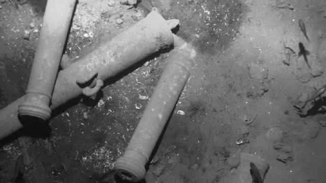 cañones del galeón San José