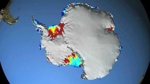 capas de hielo de la Antártida