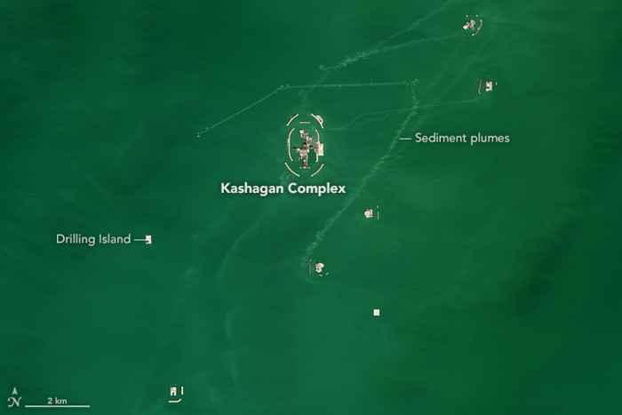 complejo de extracción de Kashagan, detalle
