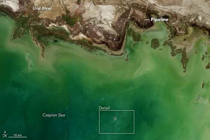 complejo de extracción de petróleo y gas de Kashagan