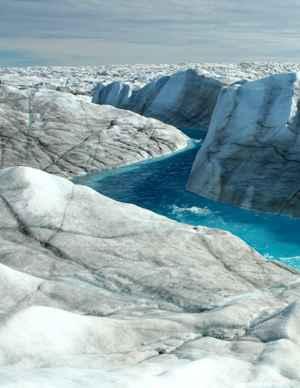 drenaje de agua de deshielo eng Groenlandia