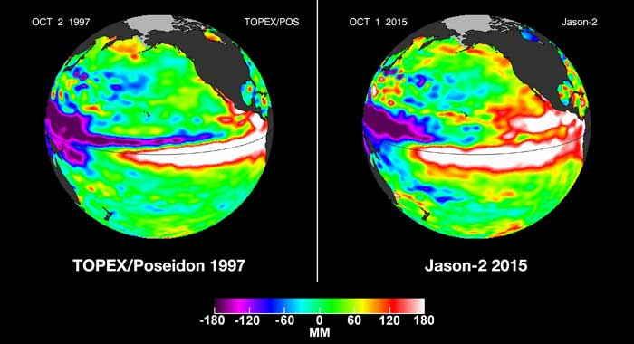 El Niño 1997 vs 2015