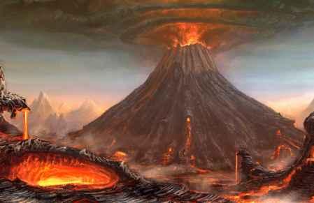 erupción del volcán Tambora