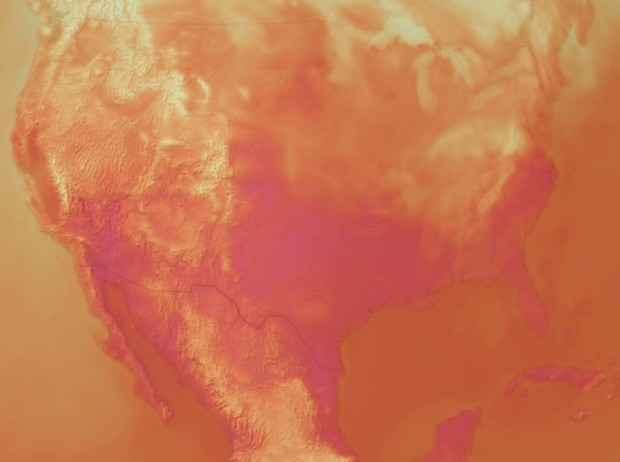filtro de temperatura en el visor del clima de la NOAA