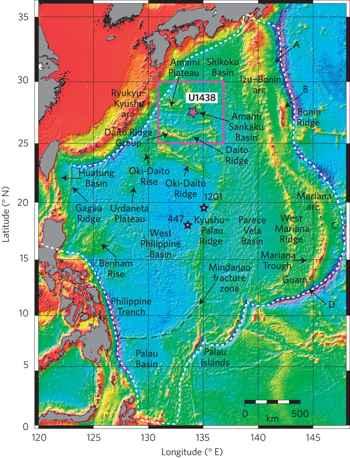 mapà de la fosa Izu-Bonin-Mariana