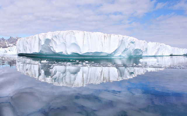 frente de un glaciar de Groenlandia