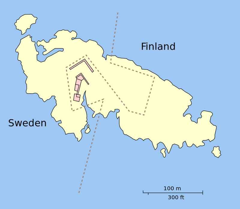 frontera  de la isla de Märket