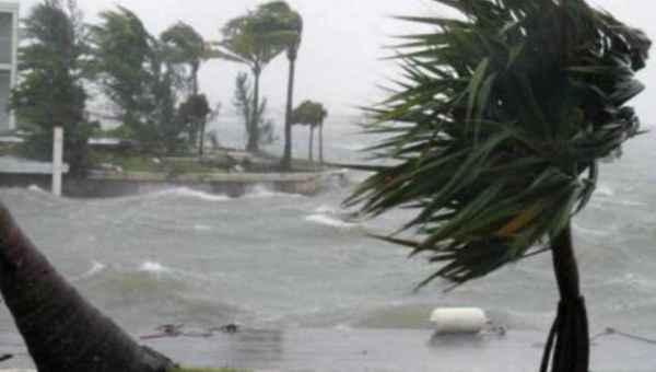 las producidas por el huracán Joaquín  en las Bahamas