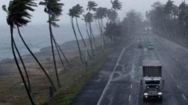 vientos por el huracán Joaquín en las Bahamas