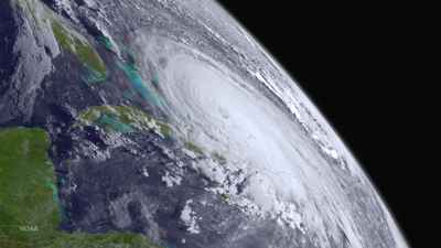 huracán Joaquín desde el espacio