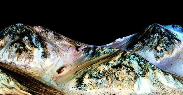 indicios de agua en Marte