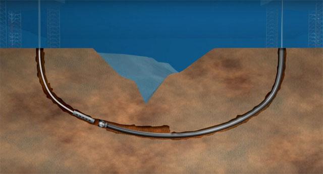 intersección submarina del gaseoducto Congo-Angola