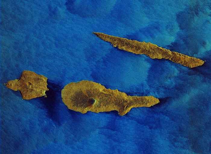 islas Azores desde satélite