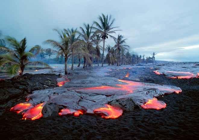 lava en Hawái