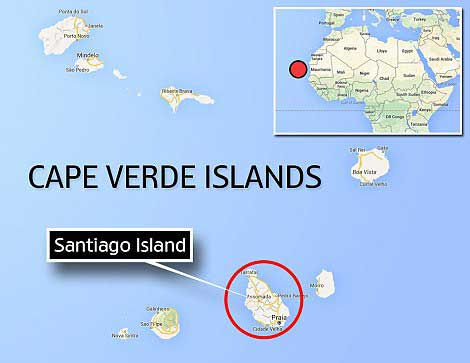 mapa situación islas Cabo Verde