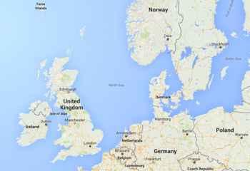 situación del Mar del Norte